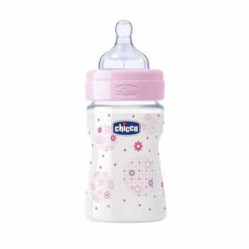 chicco biberon silicona rosa flujo normal 150ml