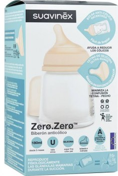 suavinex biberon anticolico zerozero flujo adaptable 180 ml